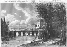 INDRE. Chateauroux 1881 old antique vintage print picture