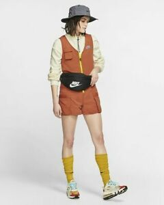 Nike Sportswear Icon Clash Women's Woven Romper Cargo Pockets Summer Casual Sz M