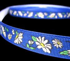 "2 Yards Daisy Flowers Daisies Grosgrain Ribbon 5/8""W"