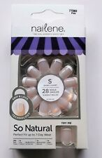 Nailene So Natural French Manicure False Nails With Glue 77360 Pink Short