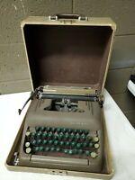 Smith Corona Silent Manual Typewriter w/ Case 1950s Parts Repair Decor Prop