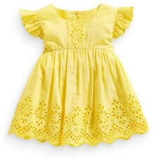 ВNWT NEXT Girls Tunic • Yellow Broderie Lace Blouse • 100% Cotton • 6-9 Months