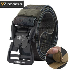 "IDOGEAR Tactical Belt 1.5"" Mens Belt Magnetic Buckle Camo Quick Release EDC Belt"