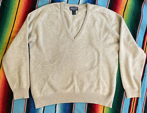 Lands' End Men's 2-Ply 100% Cashmere Pullover Sweater Size L 42/44