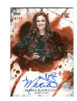 WWE Maria Kanellis 2018 Topps Undisputed Orange On Card Autograph SN 90 of 99
