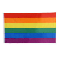 150*90cm 3x5 FT Rainbow Flag Gay Pride Peace Flags Colorful Decoration Gift A Hb