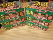 TOXIC HIGH SCHOOL 6 SEALED BOXES OF COLLECTORS STICKERS