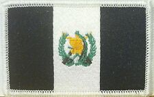 GUATEMALA Flag Embroidered Iron-On Patch Military BLACK & WHITE  Version
