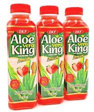 3x500ml Erdbeere Aloe Vera Drink Softdrink Getränk mit Fruchtstückchen