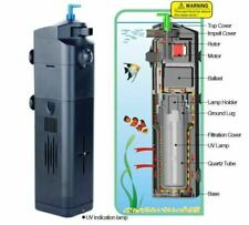 NEW DESIGN! 9W UV Sterilizer w/ Adjustable Pump Filter 75 gal Aquarium Fish Tank
