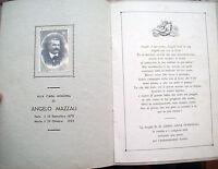 1935 IN MORTE DI ANGELO MAZZALI DA SAN GIOVANNI DEL DOSSO MANTOVANO