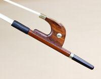 New Double Bass bow German Octagonal pernambuco stick Snakewood frog 4/4