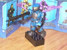 Mega Bloks 96978 HALO Series 5 UNSC COBALT MARINE Micro Figure w/ Stand & Weapon