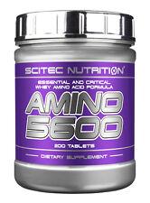 Aminoacidos AMINO 5600 SCITEC 200 t.  aminoácidos: BCAAS y ESENCIALES