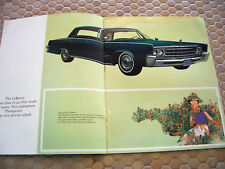 CHRYSLER IMPERIAL PRESTIGE SALES BROCHURE 1966 USA EDITION