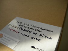 """FOR PITCO or HENNY PENNY FRYER.14""""X22""""FILTER ENVELOPES 100ct.W/ hole one side."""