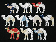 10 PRIMITIVE CUTTER QUILT CAMELS! Scrapbooking! Applique!