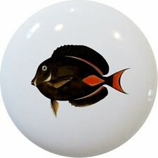 Tropical FISH Achilles TANG Cabinet DRAWER Pull KNOB Ceramic
