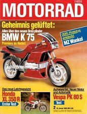 M8502 + Test HONDA XL 350 R + Test VESPA PK 80 S + MARS mobil + MOTORRAD 2/1985