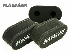 3 x RAMAIR Carb Sock Air Filters Triumph TR6 Wide Port 150BHP Weber 40 DCOE