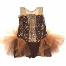 Creations By Cicci Tutu Girl's Small Dance Costume Shorts Sequin F1
