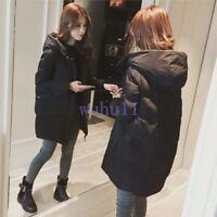 Women's Korean Loose Thicken Solid Down Coat Chic Winter Outwear Jacket Solid WU