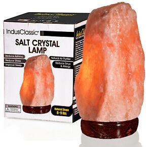 IndusClassic Natural Himalayan Crystal Rock Salt Lamp Air Purifier 6~9 lbs
