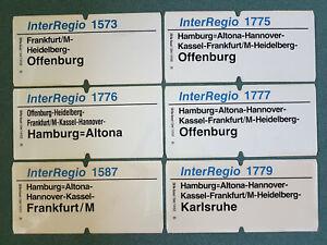 Deutsche Bahn DB Eisenbahn Zuglaufschilder Konvolut