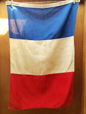Vintage France National Maritime Flag