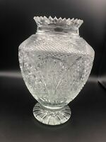 "Vintage ABP American Brilliant Period Cut Crystal Vase, 10 1/2"" Tall, 8"" Widest"