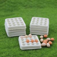 Dollhouse toy model miniature food playing mini empty egg tray    dm