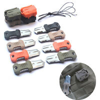 Mini Stainless Steel Molle Webbing Buckle Survival Pocket Knife Outdoor Shiv