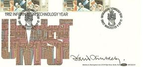 DAVID DIMBLEBY SIGNED FIRST DAY COVER INFORMATION TECHNOLOGY YEAR
