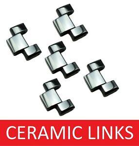 Set of 1 2 3 4 Link for EMPORIO ARMANI AR1400 Ceramic Watch Bracelet Strap Band