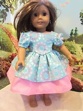 "homemade 18"" doll american girl/madame alexander promenade pi dress doll clothes"