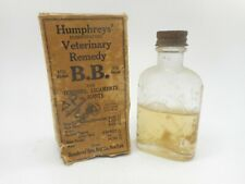 Vintage HUMPHREYS VETERINARY HORSE ANIMAL REMEDIES PHARMACY MEDICINE BOTTLE BOX