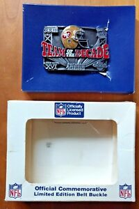 49ers Belt Buckle BRAND NEW 1990 Limited Ed #999 Orig Box San Francisco