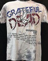 The Grateful Dead Mens Official Vintage Concert Tour Shirt New York Soft Tie-Dye