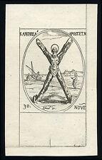santino incisione 1600 S.ANDREA AP.  j.callot
