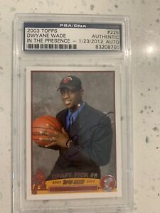 Dwyane Wade Topps Rookie Card AUTO RC PSA /DNA Signed Autographed 2003-04 10?