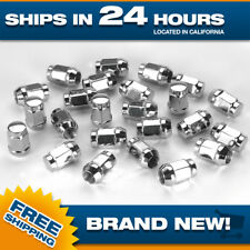 24 Extended Chrome Lugnuts fits Dodge Ram 1500 Acorn Bulge 9/16 Tall XL nut