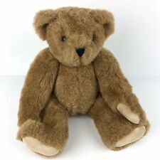 """Vintage Vermont Teddy Bear Company 16"""" Plush Jointed Poseable Brown Tags 1994"""