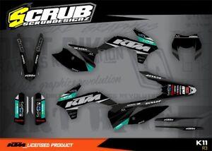 KTM graphics EXC 125 250 300 450 500 2016 '16  SCRUB decals