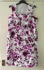 Ladies Pretty Dress Size 16,Eu 44,White Plum Floral Design,Party, Evening Dress.