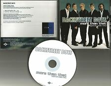 BACKSTREET BOYS More Tha That SPECIAL RADIO MIX PROMO DJ CD Single 2001 USA MINT