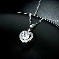 18K White Gold Plated V Pave Necklace made with Swarovski Crystals