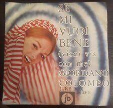 Giordano Colombo – Se Mi Vuoi Bene (Vieni Via Con Me) 45 Giri  autografato