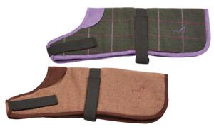 Dog Pet Clothes Padded Coat Tweed Cosy Adjustable Warmer Jacket Vest Kensington
