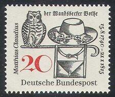 Germany 1965 Matthias Claudius/Poet/Owl/Owls/Frogs/Nature/Birds 1v (n27876)
