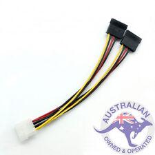 1 x 4 Pin IDE Molex to 2x SATA Splitter Power Cable Adapter
